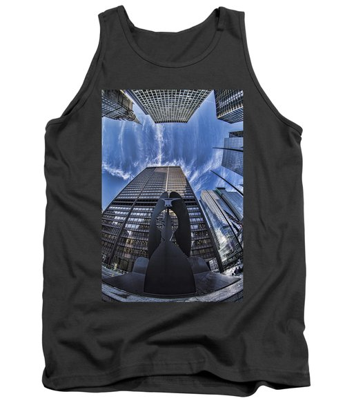 Fisheye View Of Chicago's Picasso Tank Top