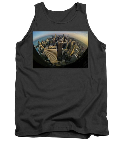 Fisheye View Of Dowtown Chicago From Above  Tank Top