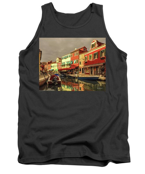 Fishing Boats In Colorful Burano Tank Top
