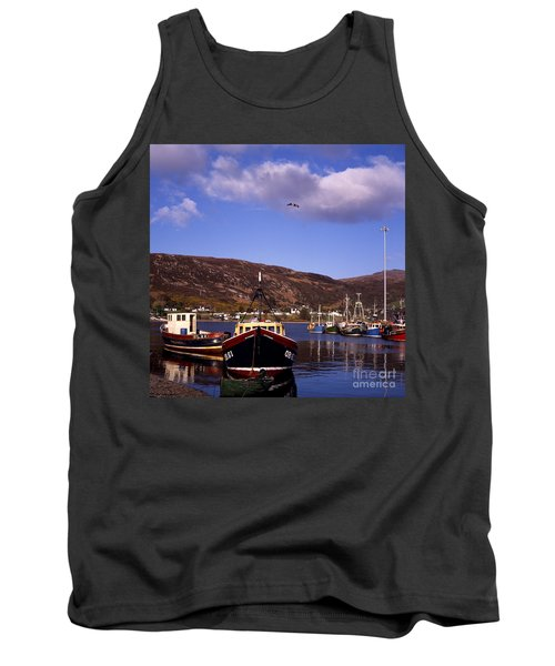 Fishing Boats Moored By The Quayside Ullapool Loch Broom  Wester Ross Scotland Tank Top