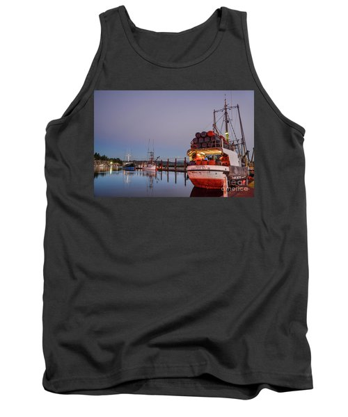 Fishing Boats Waking Up For The Day Tank Top
