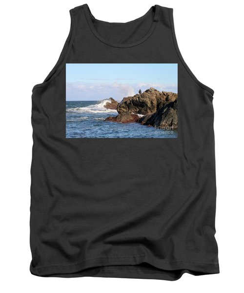 Tank Top featuring the photograph Fishing by Linda Lees