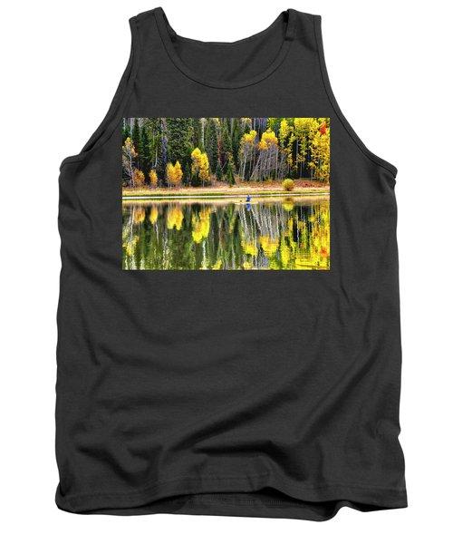 Fishing On Dream Lake Colorado Tank Top