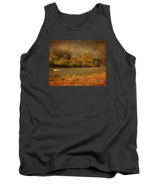 Fishing On Thornton Reservoir Leicestershire Tank Top by Linsey Williams