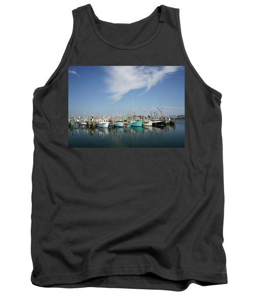 Fishing Vessels At Galilee Rhode Island Tank Top