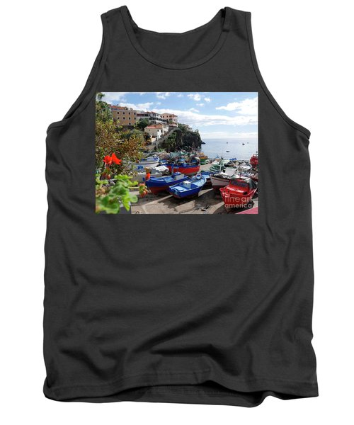 Fishing Village On The Island Of Madeira Tank Top