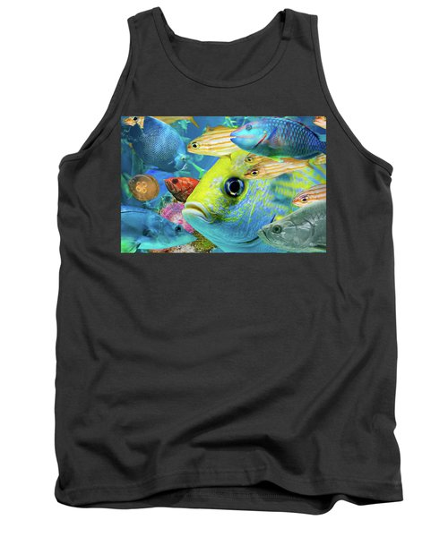 Fishy Collage 02 Tank Top