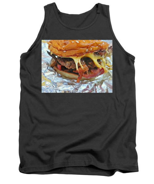 Tank Top featuring the photograph Five Guys Cheeseburger by Robert Knight