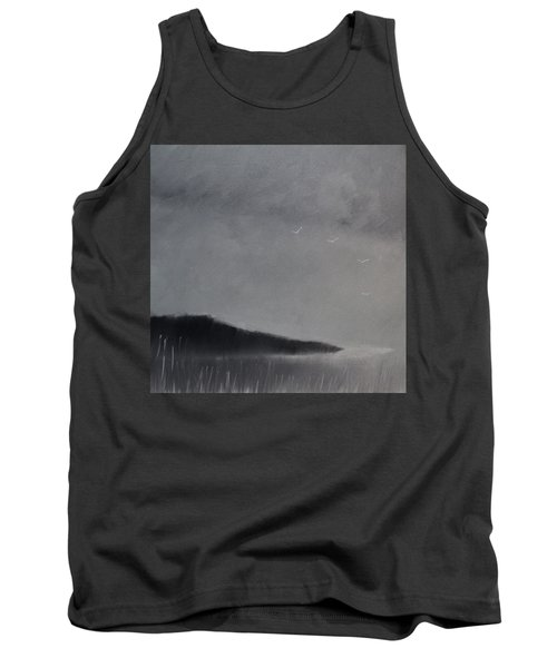 Tank Top featuring the painting Fjord Landscape by Tone Aanderaa