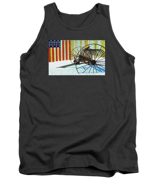 Flag And The Wheel Tank Top