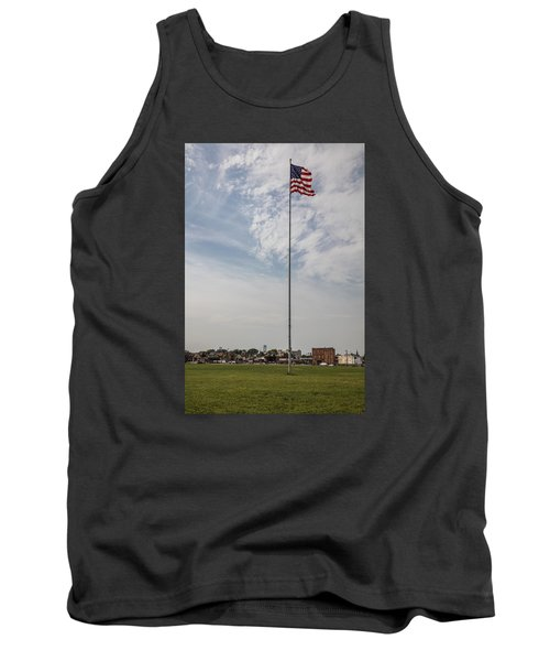 Flag Poll At Detroit Tiger Stadium  Tank Top