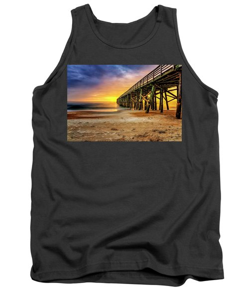 Flagler Beach Pier At Sunrise In Hdr Tank Top