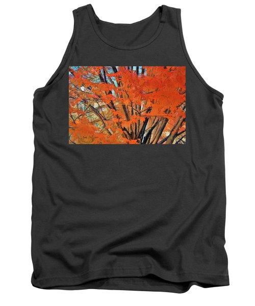 Flaming Fall Foliage Tank Top