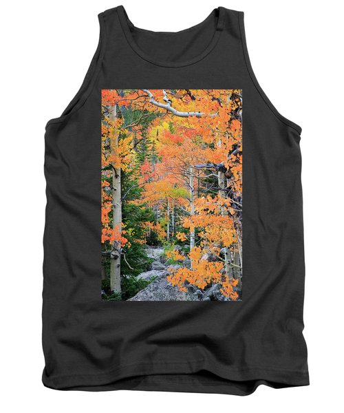 Tank Top featuring the photograph Flaming Forest by David Chandler