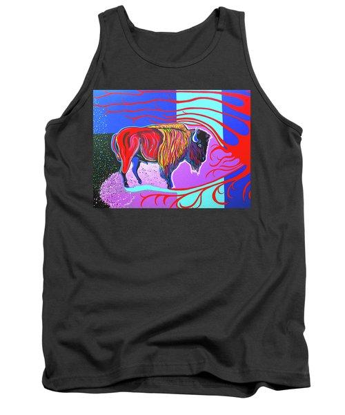 Flaming Heart Buffalo Tank Top