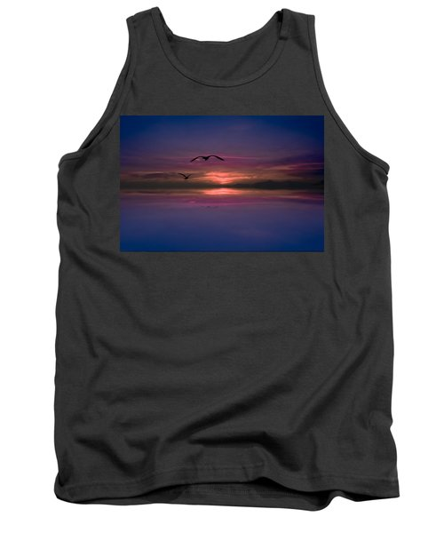 Flaming Sky  Tank Top