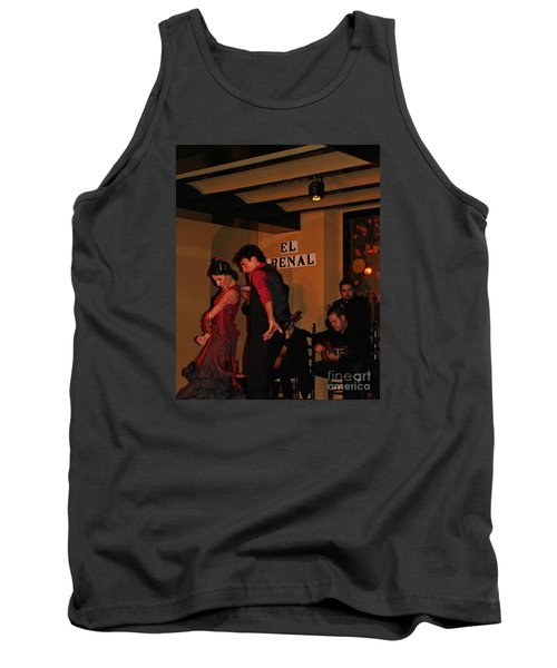 Tank Top featuring the photograph Flamingo Dancers by Haleh Mahbod