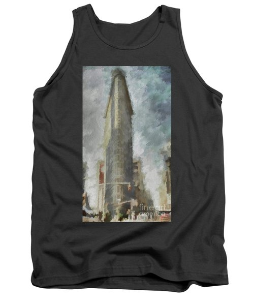 Tank Top featuring the digital art Flat Iron by Jim  Hatch