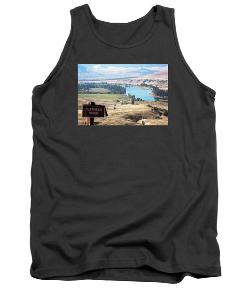 Flathead River 4 Tank Top by Janie Johnson