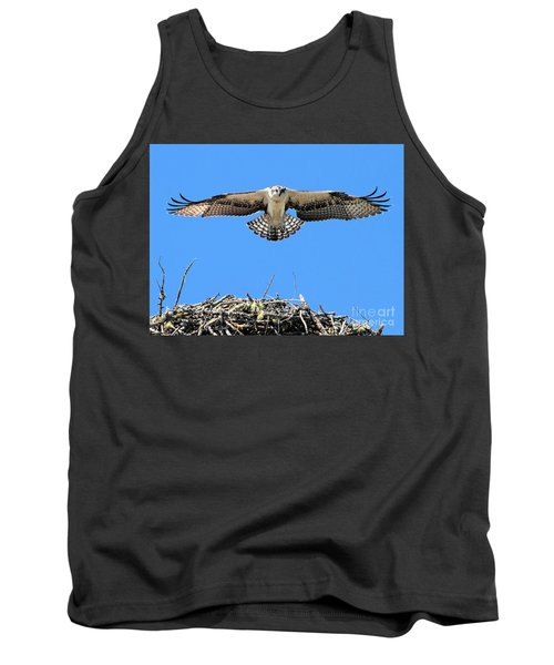 Tank Top featuring the photograph Flegeling Osprey by Debbie Stahre
