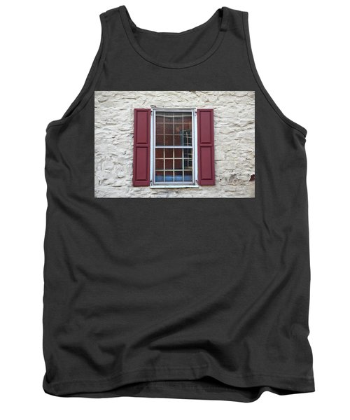 Tank Top featuring the photograph Flemington, Nj - Side Shop Window by Frank Romeo