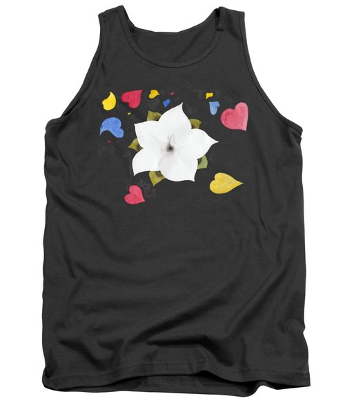 Tank Top featuring the painting Fleur Et Coeurs by Marc Philippe Joly