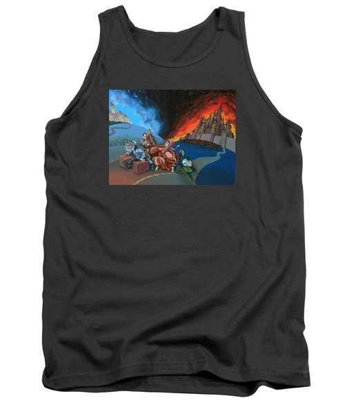 Flight Of Lot Out From Sodom Tank Top
