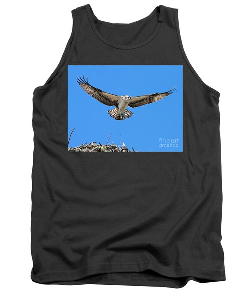 Tank Top featuring the photograph Flight Practice Over The Nest by Debbie Stahre
