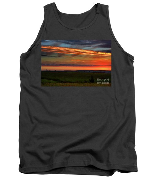 Flint Hills Sunrise Tank Top by Thomas Bomstad