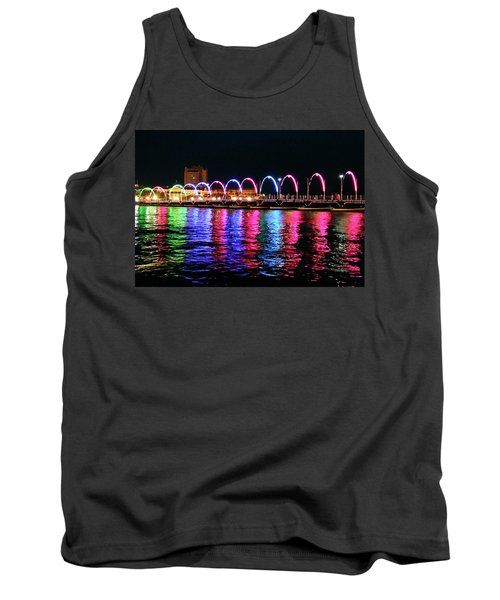 Tank Top featuring the photograph Floating Bridge, Willemstad, Curacao by Kurt Van Wagner