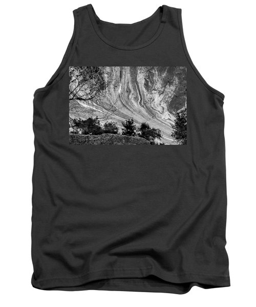 Floating Oil Spill On Water Tank Top