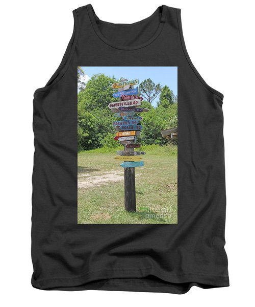 Florida Crossroads 3 Tank Top by Dodie Ulery
