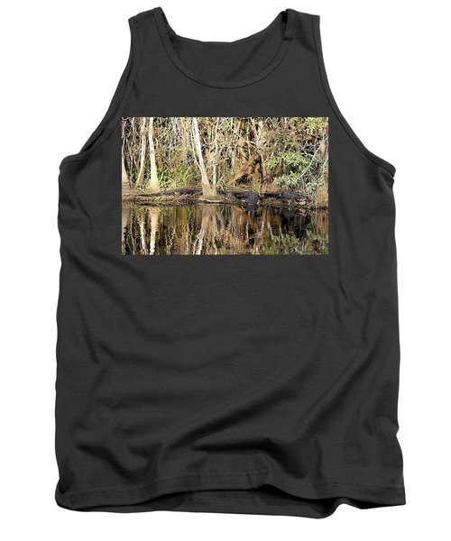 Tank Top featuring the photograph Florida Gators - Everglades Swamp by Jerry Battle