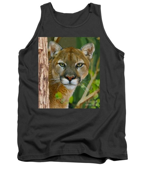 Florida Panther Tank Top by Larry Nieland
