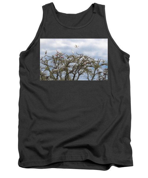 Tank Top featuring the photograph Florida Rookery by Kelly Marquardt