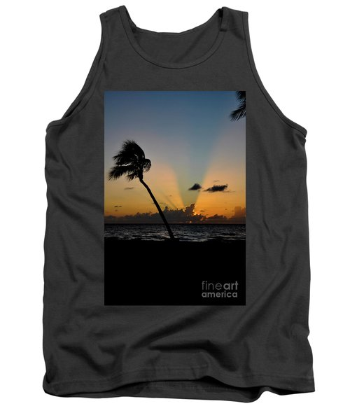 Tank Top featuring the photograph Florida Sunrise Palm by Kelly Wade