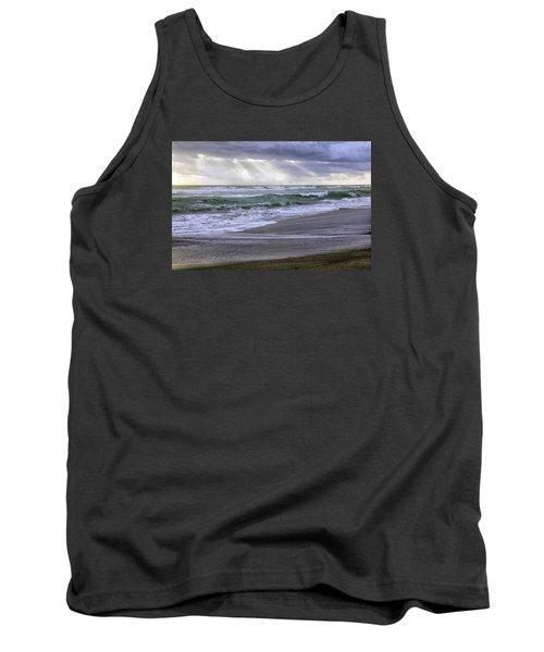 Florida Treasure Coast Beach Storm Waves Tank Top by Betty Denise