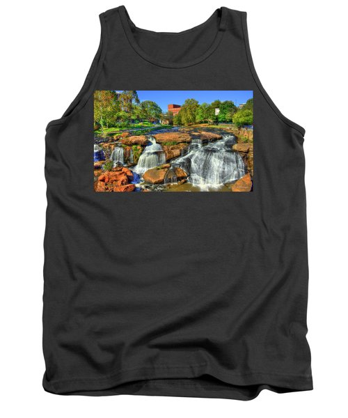 Flow On Reedy River Falls Park Art Greenville South Carolina Art Tank Top