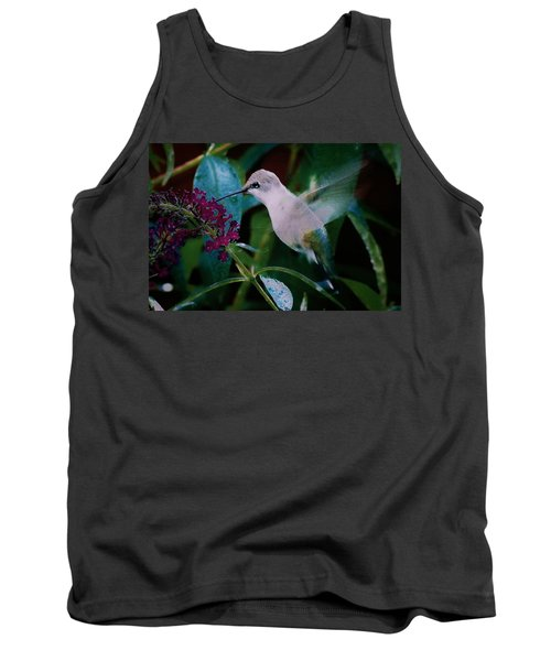Flower And Hummingbird Tank Top