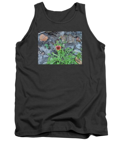 Tank Top featuring the photograph Flower And Lizard by Kay Gilley