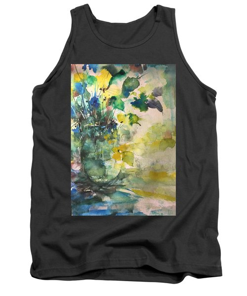 Flower And Vase Stilllife  Tank Top by Robin Miller-Bookhout