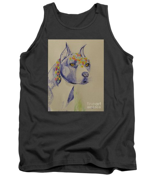 Flower Dog 1 Tank Top by Hilda and Jose Garrancho