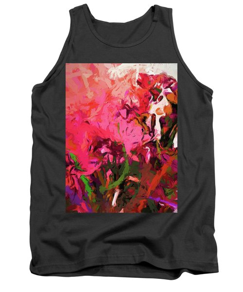 Flower Flames Soul Pink Tank Top