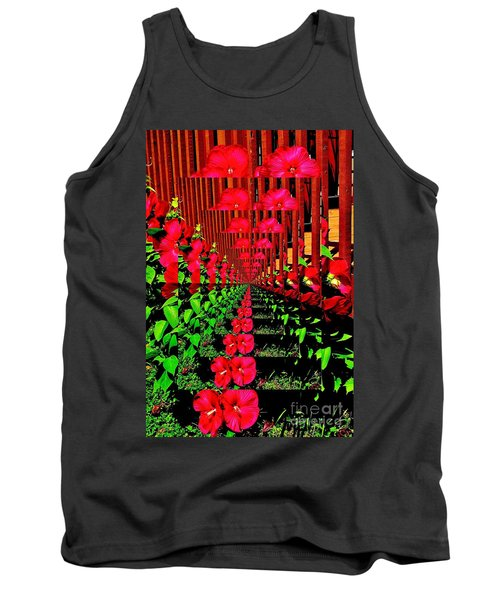 Flower Garden Abstract Tank Top by Marsha Heiken