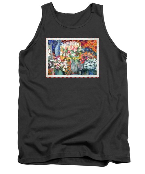 Tank Top featuring the photograph Flower Shop Window by Shirley Moravec