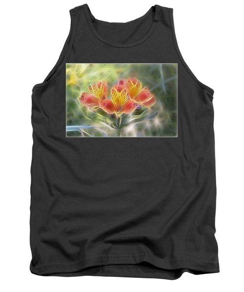 Flower Streaks Tank Top by Carol Crisafi