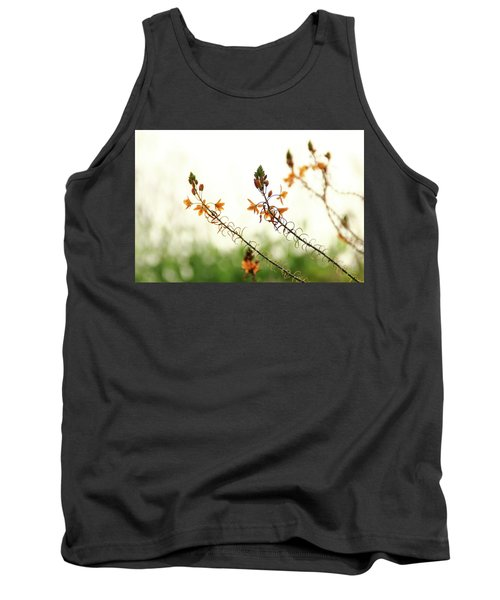 Tank Top featuring the photograph Flowering In Israel At The Sunset by Yoel Koskas