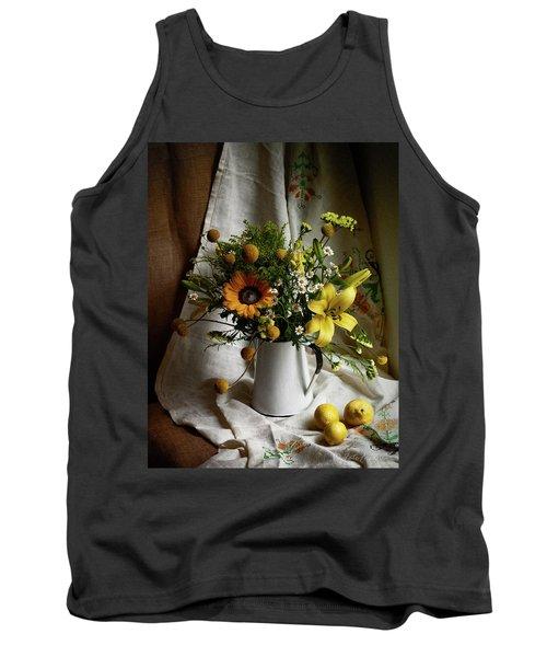 Flowers And Lemons Tank Top