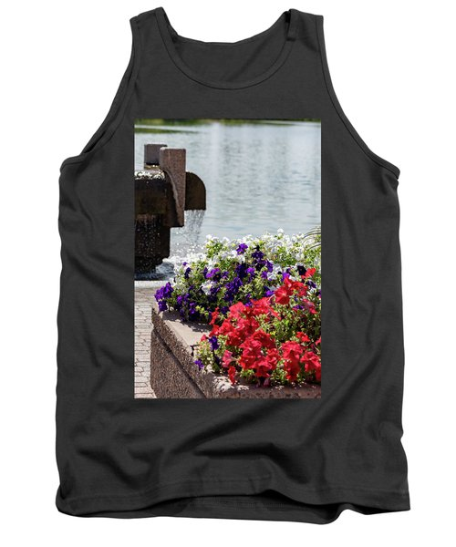 Flowers And Water Tank Top