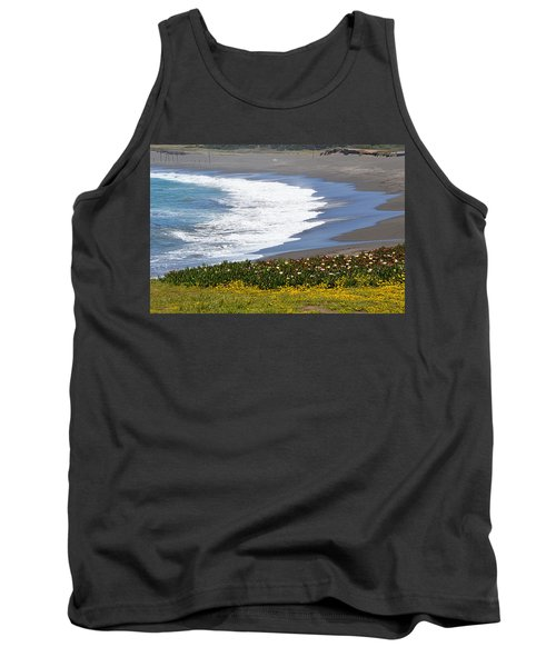 Flowers By The Sea Tank Top